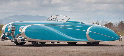 Diana Dors' stunning 1949 Delahaye Type 175 Roadster: Considered by some to be the most beautiful car in the world, sold at auction for $3,000,000.