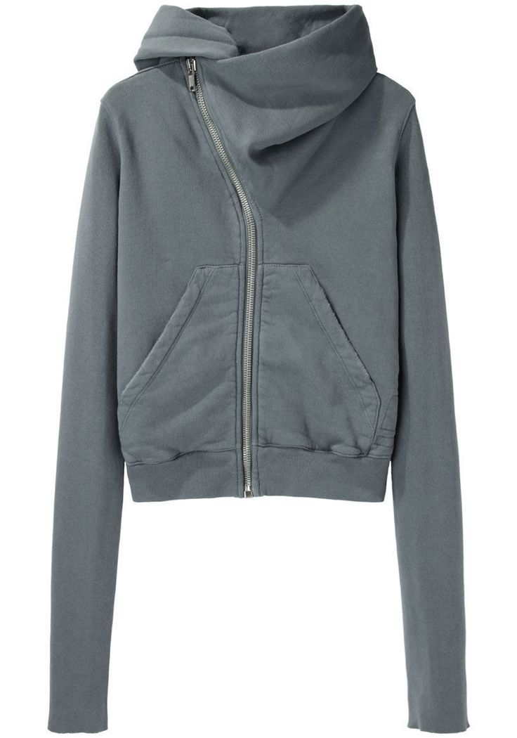 if i had won the lottery i could spend $350 on a sweatshirt D RK SH D W BY RICK OWENS | Asymmetric Zip Hoodie | Shop at La Garçonne