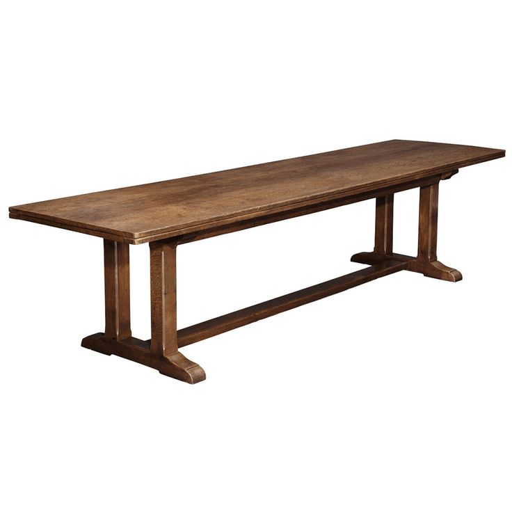 Arts And Crafts Oak Refectory Table Pinterest Dining