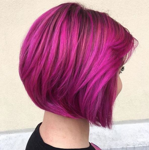 Short Hair Colors Dye Couture Rainbow Long Bob Colorful Diy Dos Haircolor
