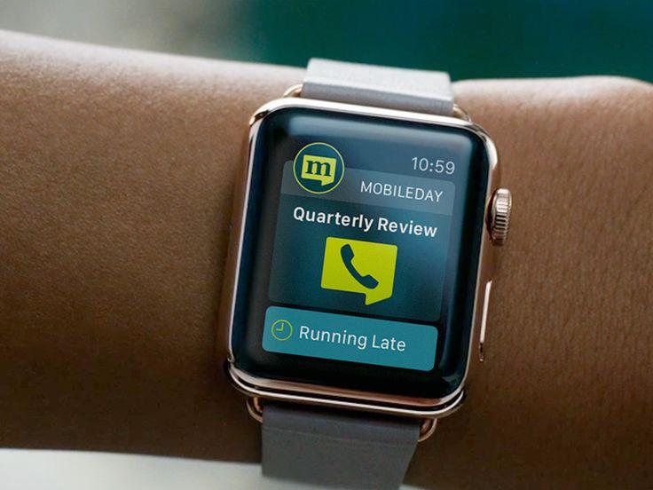 MobileDay On Apple WATCH - Wearables UI