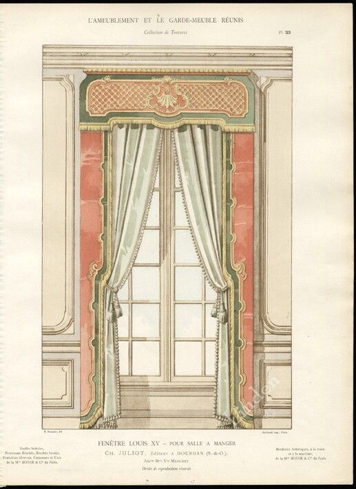 10 best images about curtains on pinterest louis xvi for Salle a manger louis xv