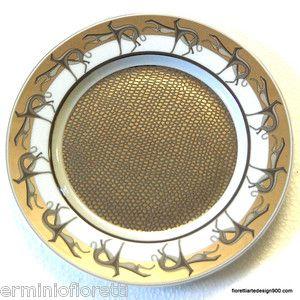 Fiorettiartedesign900 Trussardi Home piatto porcellana Limoges France levrieri | eBay