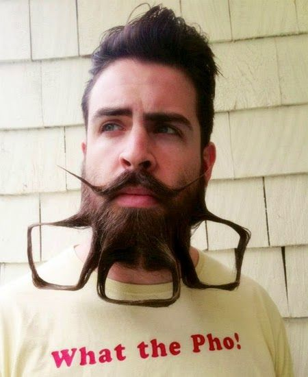 funny artwork unique beard styles
