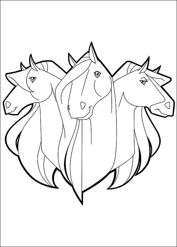 Horseland Fargelegging for barn Tegninger for utskrift og