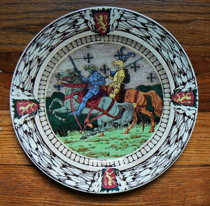 Royal Doulton King Arthur's Knights Rack Plate D2961 by SpringRainVintage on Etsy https://www.etsy.com/listing/238678120/royal-doulton-king-arthurs-knights-rack