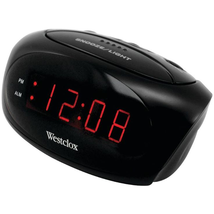 Westclox Super-loud Led Electric Alarm Clock (black)