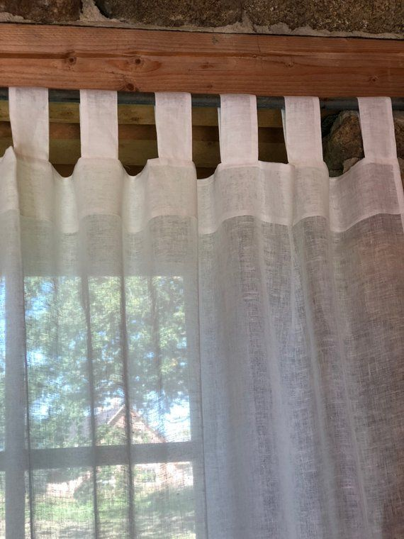 Linen Curtain Panel White Curtains Sheer Curtains Linen Drapes