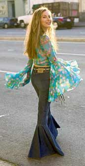 Bell Bottoms.. and hip huggers~ Don't want the style back,but I would like my body back!