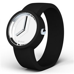 O clock watch - Mirror dial with Black strap