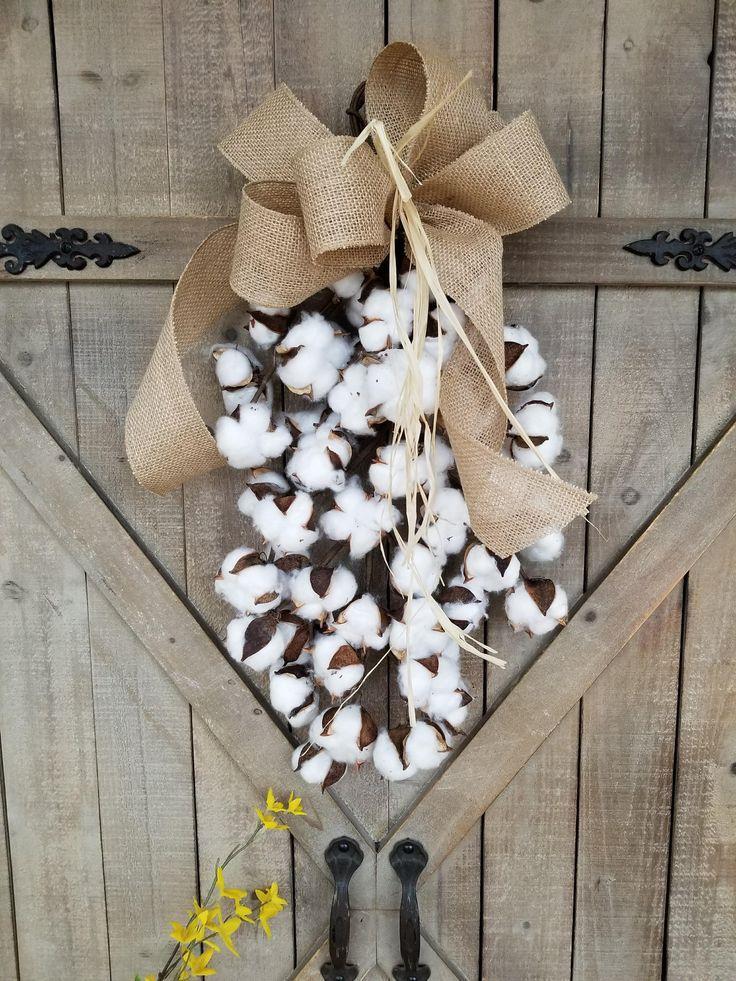 Cotton Boll Swag Decor Farmhouse Home Fixer Upper Farm Style Pinterest
