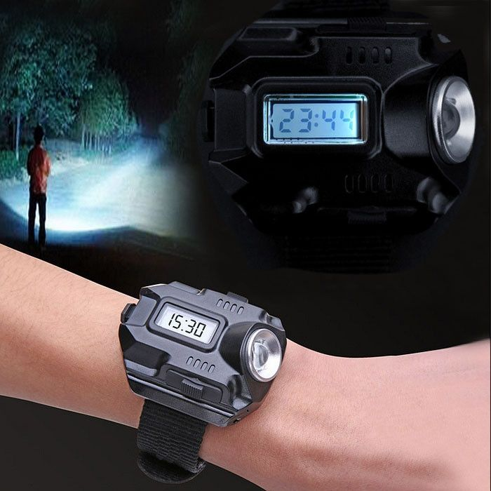 Wrist Watch Flashlight, LED 1000 Lumens USB Charging, 4 Mode Tactical Flashlight