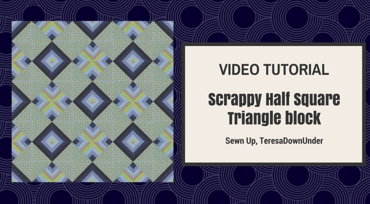 How to make a scrappy half and half square triangle (HST) block Tip While I chose to use solids for the strips of fabric, this blockmay work better with scrappy print fabrics where the strips may …