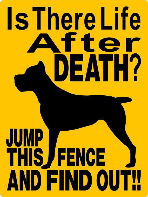 CANE CORSO Dog Sign 9x12 ALUMINUM by animalzrule on Etsy, $12.00