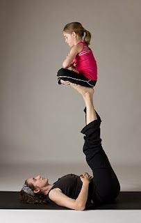 ultimate kid yoga :) if only my little one would sit still to do this