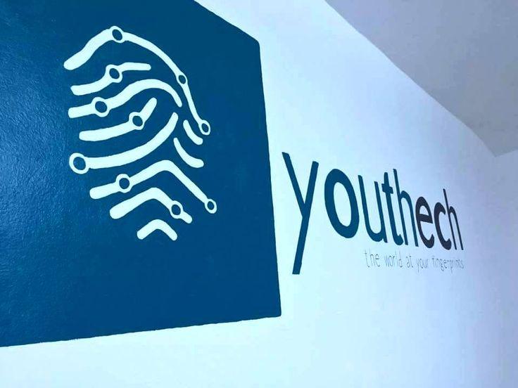 Company logo wall painting #company #logo #painting