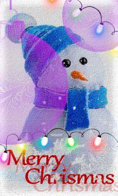 Рождественский снеговик - анимация на телефон №1207692