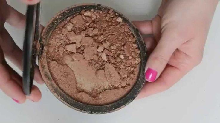 DIY - How To Fix Broken Powder - Bronzers, Shadows, Powders