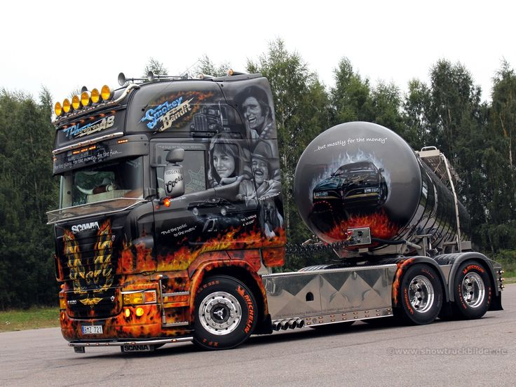 Cool Smokey and the Bandit theme. | Beautiful Scania http://showtruckbilder.de/