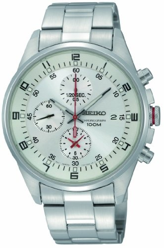 Seiko Men's SNDC87 Stainless Steel Analog with White Dial Watch: Watches: Amazon.com