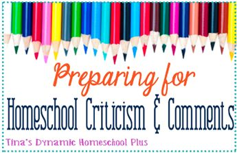 "Preparing for Homeschool Criticism and Comments  Day 4: "" Speak Now Or Forever Hold Your Peace""   Confronting Relatives & Naysayers. {31 Day Blog Boot Camp For New Homeschoolers}"