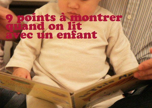 Des choses à souligner quand on lit avec son enfant