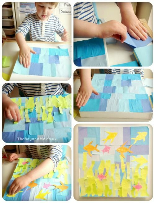 How To Make An Under The Sea Picture (Using Post-It Notes)