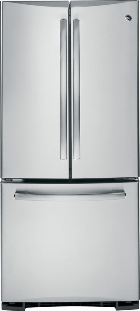 19.5 cu. ft. Bottom-Mount French Door Refrigerator in Stainless Steel