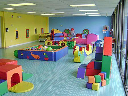 Large motor skill room for toddlers -- I wish I had a basement so I could have this for my kids!