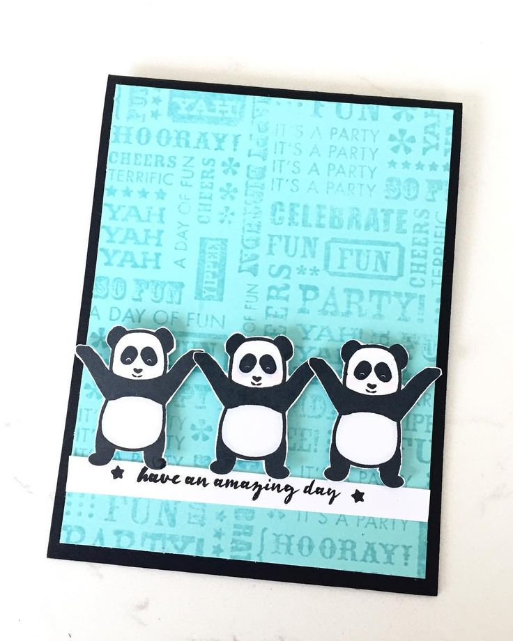 I couldn't resist making one  more card for @thetonstamps january challenge (cheers) coz I just adore these pandas! https://thetonchallenge.wordpress.com/2018/01/01/january-challenge-1-18/ #mypaperepiphany #thetonstamps #panda #pandalove #birthdaycard #handmadecards #handstamped #heroarts