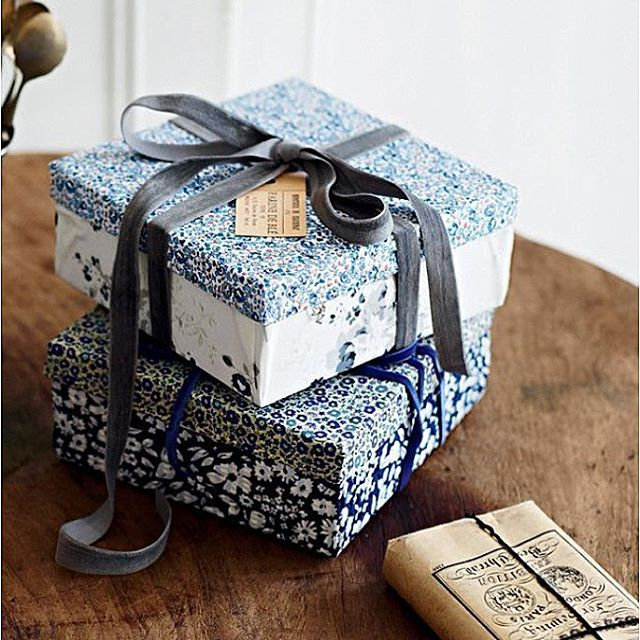 """""""How pretty are these fabric wrapped boxes via @homelife.com.au?! I ❤️ them. They have a beautiful IG feed too. Happy Friday, friends! #prettypackaging"""" Photo taken by @thecasualcraftlete on Instagram, pinned via the InstaPin iOS App! http://www.instapinapp.com (10/02/2015)"""