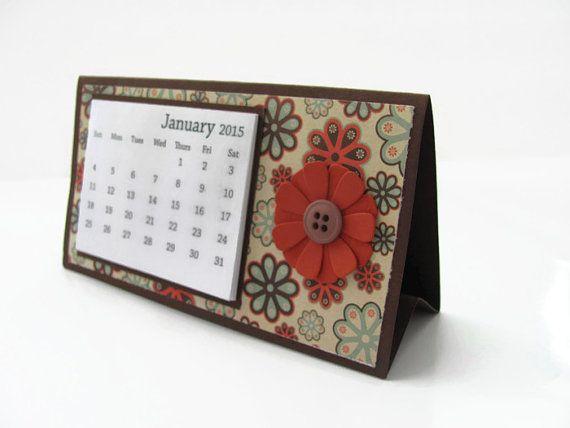 Handmade Calendar Designs : Ideas about desktop calendars on pinterest