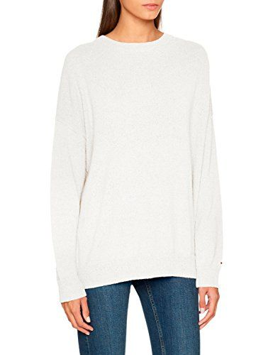 Jeans Pull Blanc snow White Tommy Textured Manches Longues Femme tvqHxqp