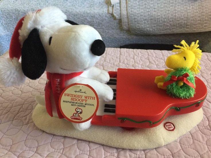 Hallmark Swingin w/ Snoopy Plush W: Sound, Motion, Lights, & 3 Pre-loaded Songs #Peanuts