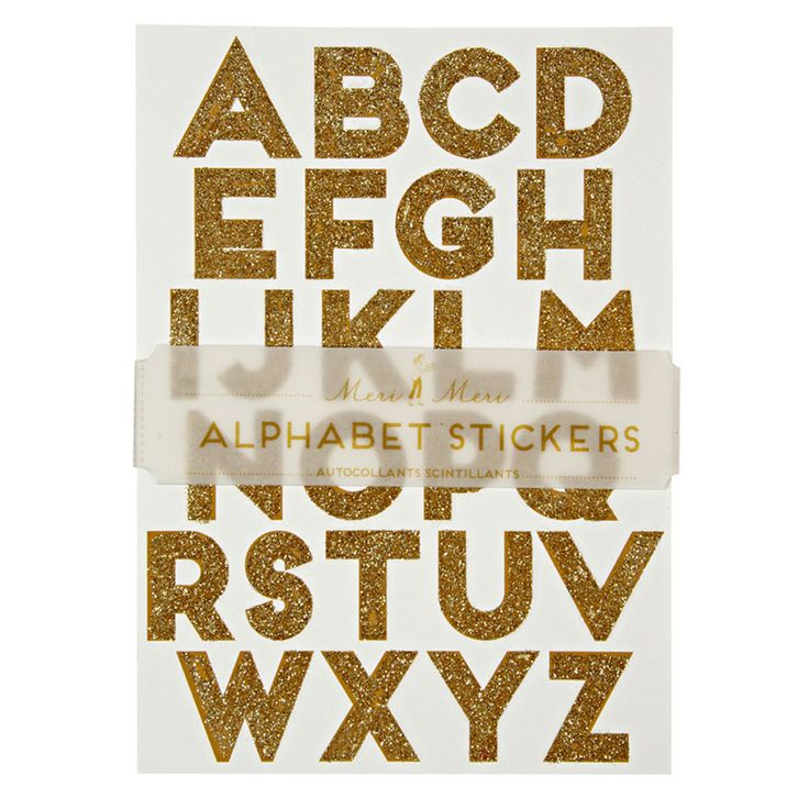 Are you interested in our gold sparkle typographic stickers with our gold personalised alphabet stickers you need look no further