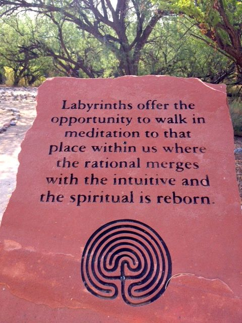 """Labyrinths offer the opportunity to walk in meditation to that place within us where the rational merges with the intuitive and the spiritual is reborn."""