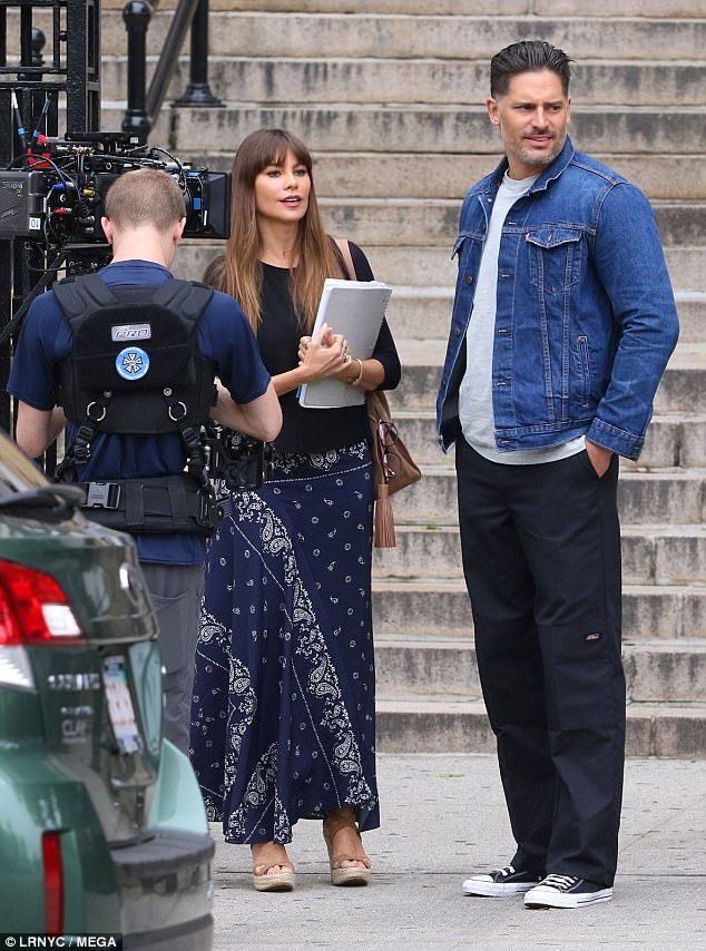 The 45-year-old actress and her hunky husband, 40, looked more in love than ever as they shot scenes together for their movie Stano in Queens, NY, on Thursday