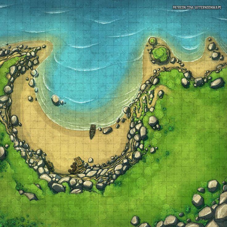 30x30 Grid : Battlemaps (With