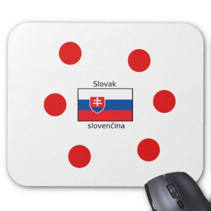 #Slovak Language And Slovakia Flag Design Mouse Pad - #office #gifts #giftideas #business