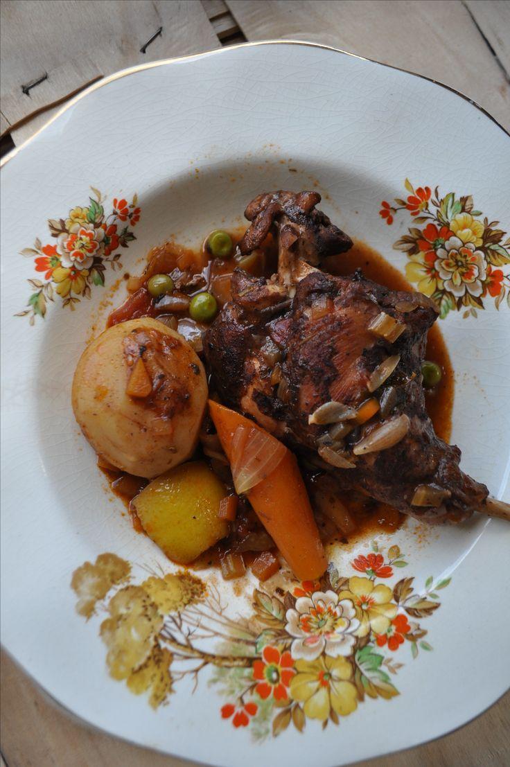 Maltese Rabbit Stew (Maltese Food, Maltese Recipes, Maltese Cuisine)