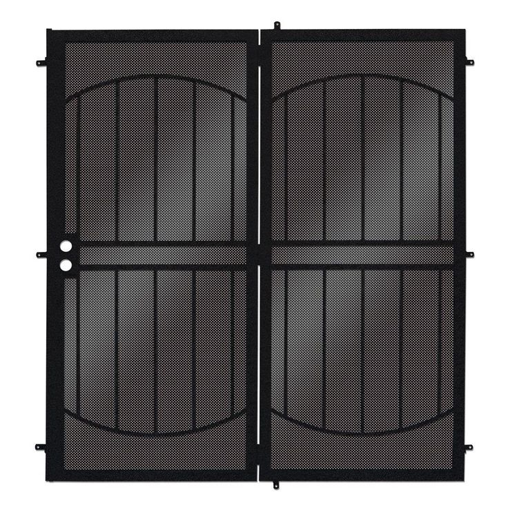 Unique Home Designs 72 in. x 80 in. ArcadaMAX Black ...