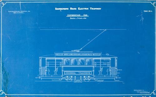 MP 13702. Dandenong Road electric tramway combination car, 1911.