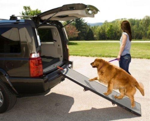 Tri Fold Pet Ramp Cats Dogs 200 lbs Max Car Van SUV Trunk Compact Travel Safe #PetGear