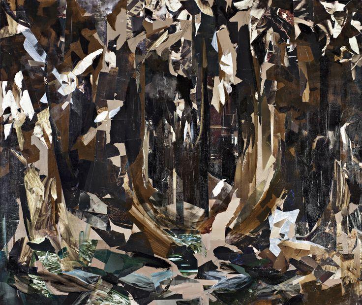 Mari Jäälinoja, Odd Forest, 2013, acrylic on canvas, 110x130cm