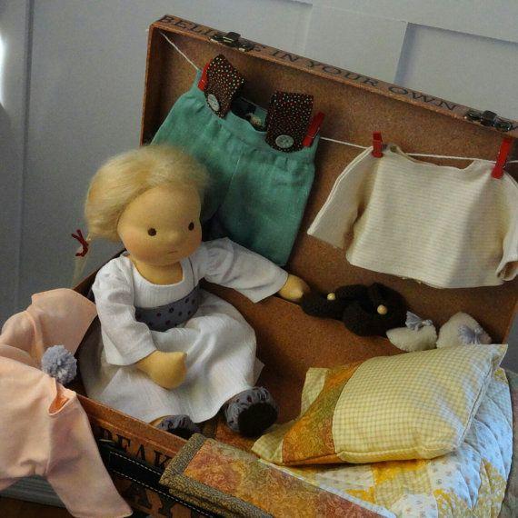 VERKOOP Waldorf pop 13 blond haar bruine ogen door FabricWoolLove