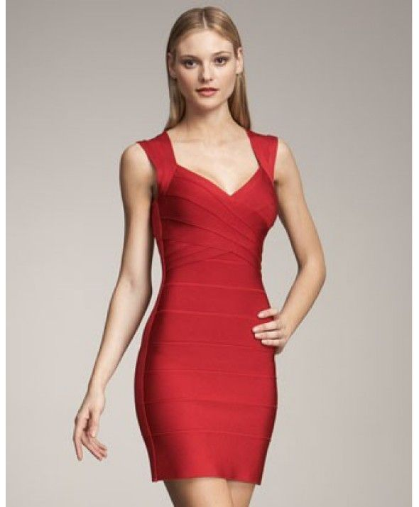 bodycon bandage dress, RED SARAI BANDAGE DRESS - RED bandage ...