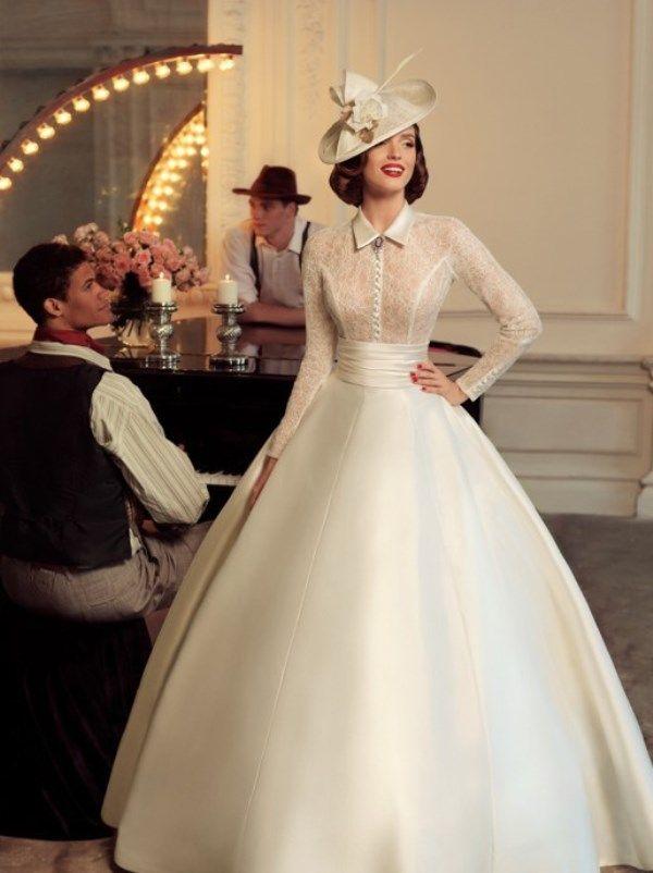 Свадебное платье в стиле 40-х от Татьяны Каплун