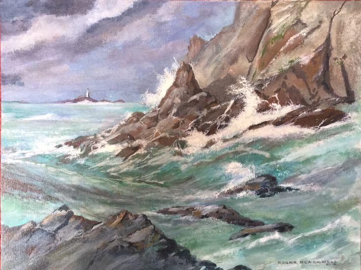 """Seascape. Acrylic on canvas. 16"""" x 12"""""""