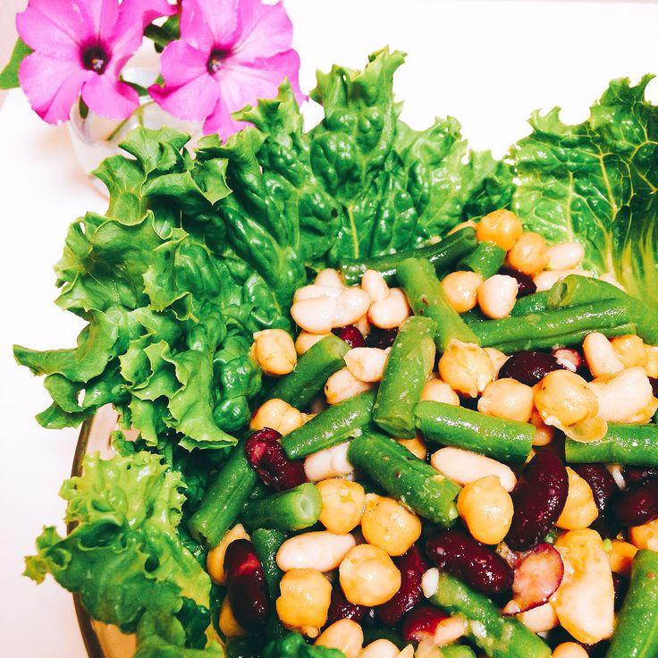 ビーンズサラダ Four Bean Salad with Lettus