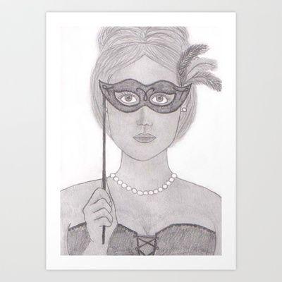 Masquerade Art Print by Sheridan van Aken - $22.88
